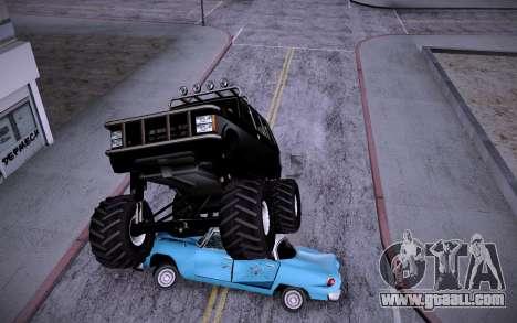 Huntley Monster v3.0 for GTA San Andreas back left view
