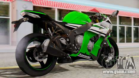 Kawasaki ZX-10R 2015 30th Anniversary Edition for GTA San Andreas left view