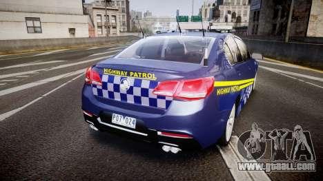 Holden VF Commodore SS Highway Patrol [ELS] v2.0 for GTA 4 back left view