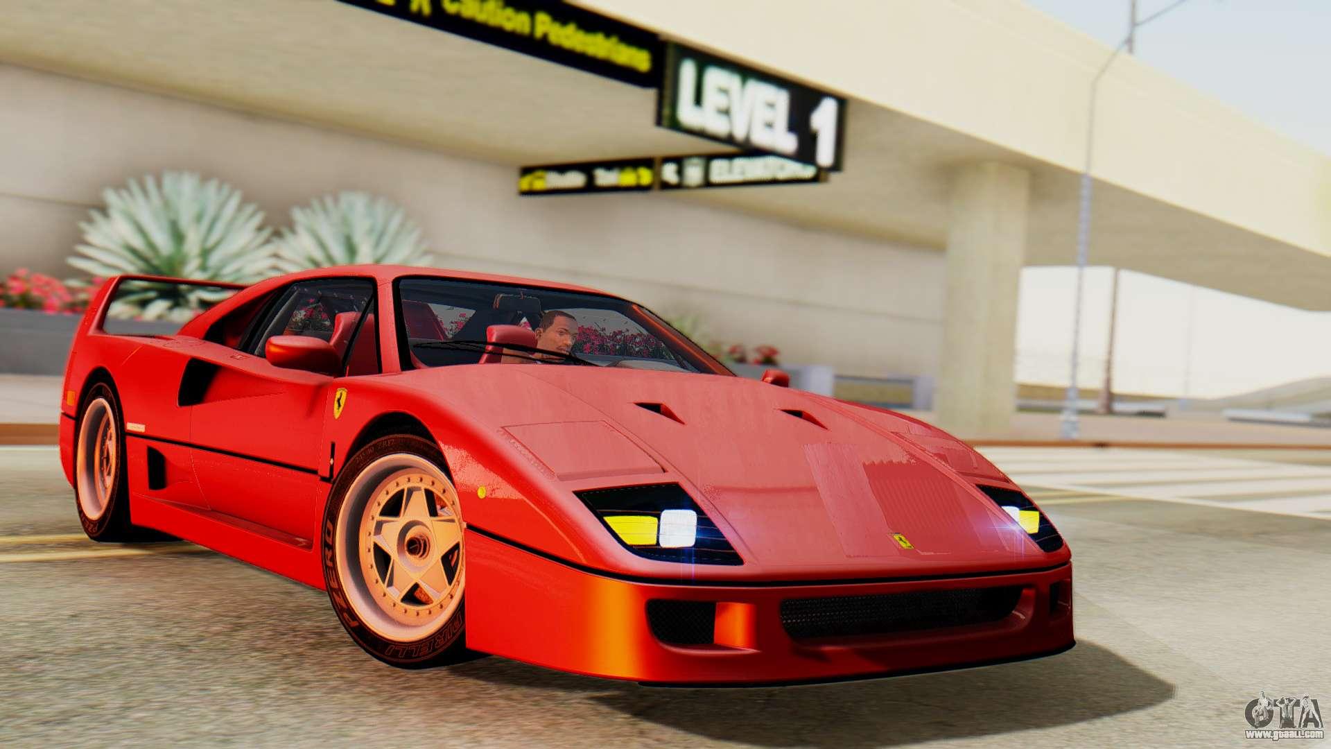 Ferrari f40 1987 with up lights for gta san andreas vanachro Choice Image