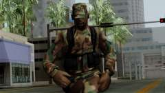 The African American soldier in the standard cam