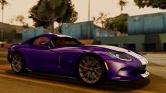 Dodge Viper SRT GTS 2013 IVF (HQ PJ) HQ Dirt for GTA San Andreas