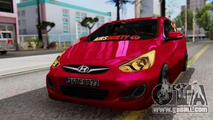 Hyundai Accent Blue for GTA San Andreas
