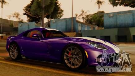 Dodge Viper SRT GTS 2013 IVF (HQ PJ) HQ Dirt for GTA San Andreas