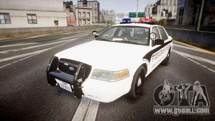 Ford Crown Victoria 2008 New Alderney Sheriff for GTA 4