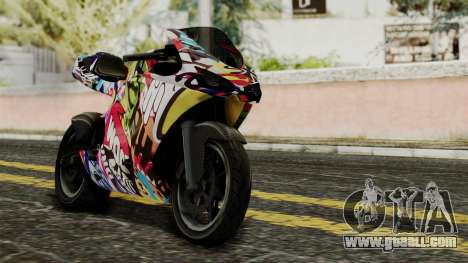 Bati Motorcycle JDM Edition for GTA San Andreas inner view