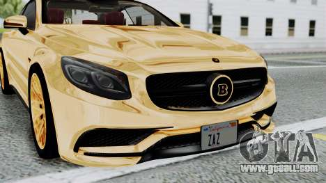 Brabus 850 Gold for GTA San Andreas inner view