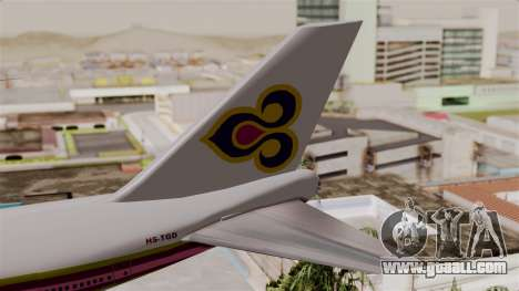 Boeing 747-200 Thai Airways for GTA San Andreas back left view