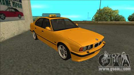 BMW M5 E34 Taxi for GTA San Andreas left view