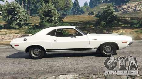 GTA 5 Dodge Challenger RT 440 1970 v1.0 left side view