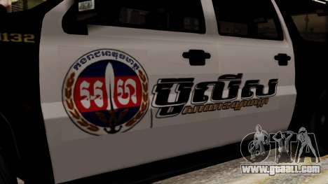 Sheriff Granger Police GTA 5 for GTA San Andreas back left view