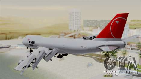 Boeing 747 Northwest Cargo for GTA San Andreas left view