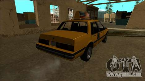 Willard Taxi for GTA San Andreas back view