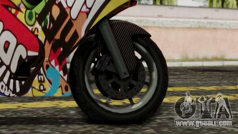Bati Motorcycle JDM Edition for GTA San Andreas back left view