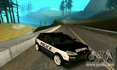 Porsche Cayenne Turbo S Federal Police for GTA San Andreas