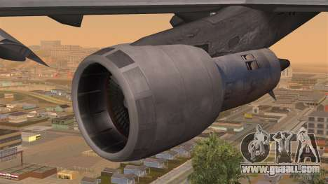 Boeing 747 Braniff for GTA San Andreas right view