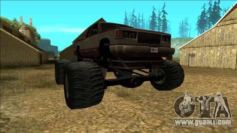 New Yosemite v2 Monster for GTA San Andreas back view