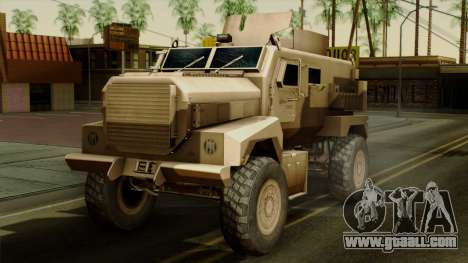 MRAP Cougar 4x4 for GTA San Andreas