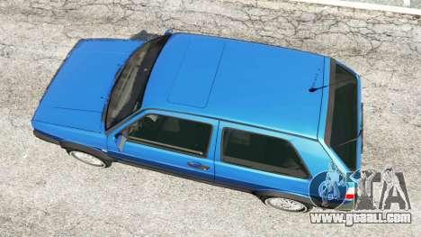 GTA 5 Volkswagen Golf Mk2 GTI back view