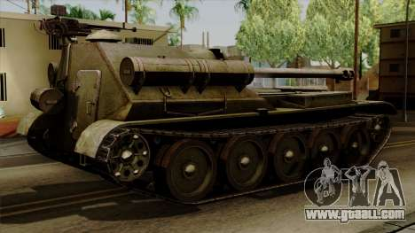 SU-101 122mm from World of Tanks for GTA San Andreas left view