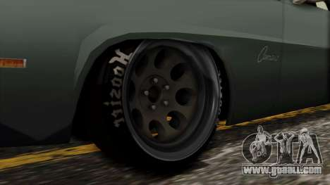 Chevrolet Camaro Drag Street for GTA San Andreas back left view