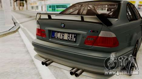 BMW M3 E46 GTR 2005 Stock for GTA San Andreas back view