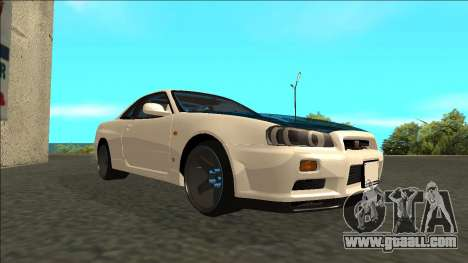 Nissan Skyline R34 Drift for GTA San Andreas right view