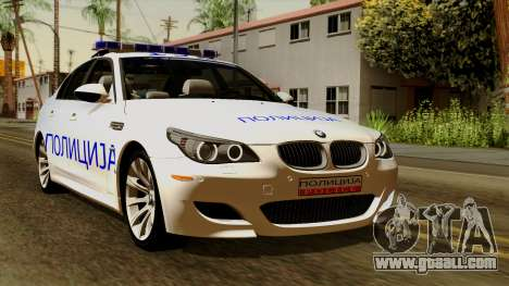 BMW M5 E60 Macedonian Police for GTA San Andreas