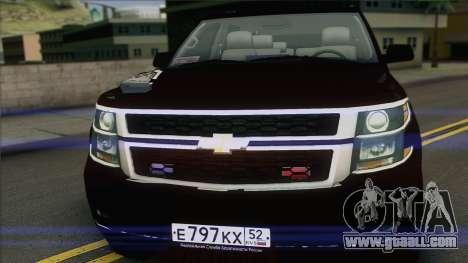 Chevrolet Suburban FSB for GTA San Andreas back left view