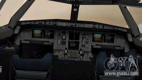 Airbus A380-861 Air India for GTA San Andreas back view