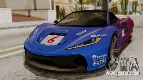 GTA 5 Progen T20 IVF for GTA San Andreas upper view