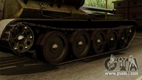 SU-101 122mm from World of Tanks for GTA San Andreas back left view