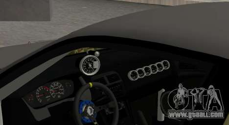 Nissan Silvia S14 JDM v0.1 for GTA San Andreas inner view