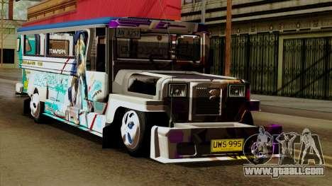 Auto Pormado - Gabshop Custom Jeepney for GTA San Andreas