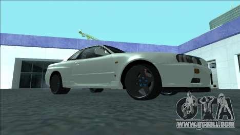 Nissan Skyline R34 Drift for GTA San Andreas back view