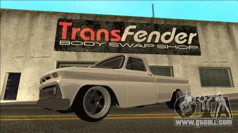 Chevrolet C10 Drift for GTA San Andreas left view