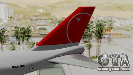 Boeing 747 Northwest Cargo for GTA San Andreas back left view