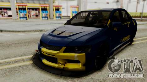 Mitsubishi Lancer Evolution IX MR 2006 for GTA San Andreas inner view