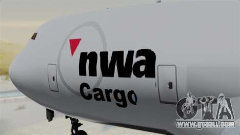 Boeing 747 Northwest Cargo for GTA San Andreas back view
