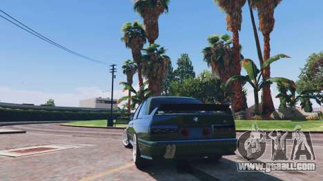 GTA 5 1991 BMW E30 Drift Edition v1.1 rear left side view