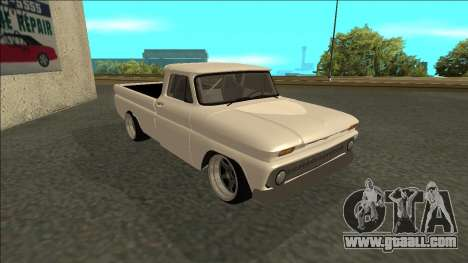 Chevrolet C10 Drift for GTA San Andreas back left view