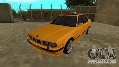 BMW M5 E34 Taxi for GTA San Andreas back left view