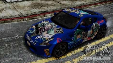 Nissan 370Z Tunable Miku Paintjob for GTA San Andreas right view