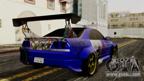 Nissan Skyline R33 Widebody Itasha for GTA San Andreas left view