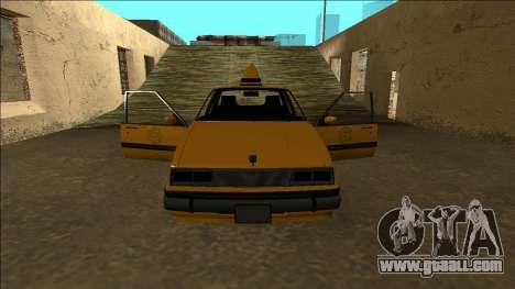 Willard Taxi for GTA San Andreas interior