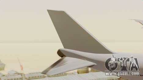 Boeing 747 Template for GTA San Andreas back left view