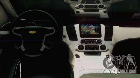 Chevrolet Suburban FSB for GTA San Andreas inner view