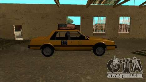 Willard Taxi for GTA San Andreas inner view