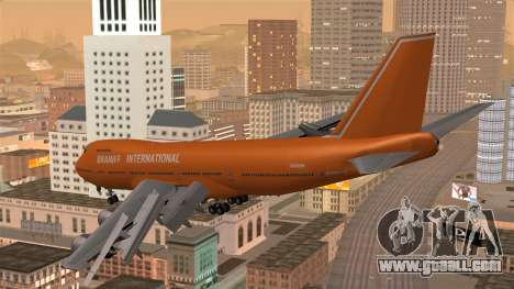 Boeing 747 Braniff for GTA San Andreas left view