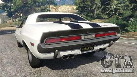 GTA 5 Dodge Challenger RT 440 1970 v1.0 rear left side view